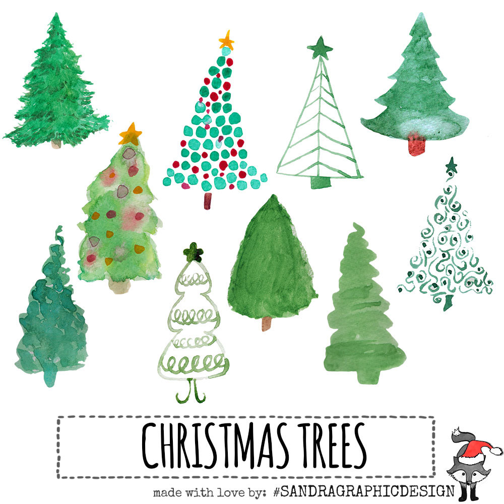 Christmas Tree Clipart 300 Dpi.