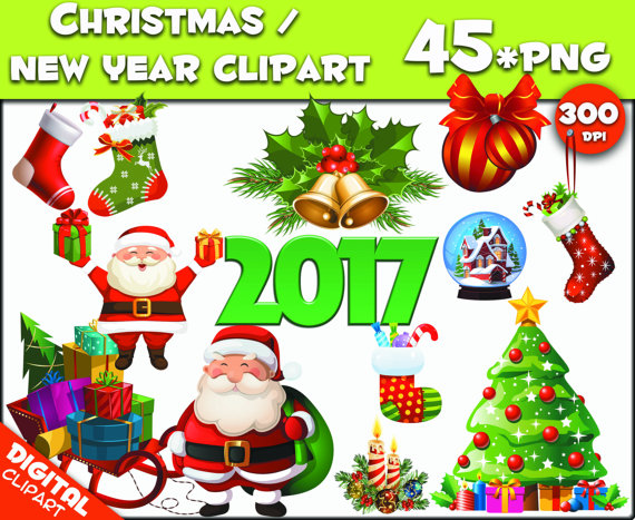 Christmas clipart 45 PNG 300dpi Images Digital Clip by 1001Clipart.