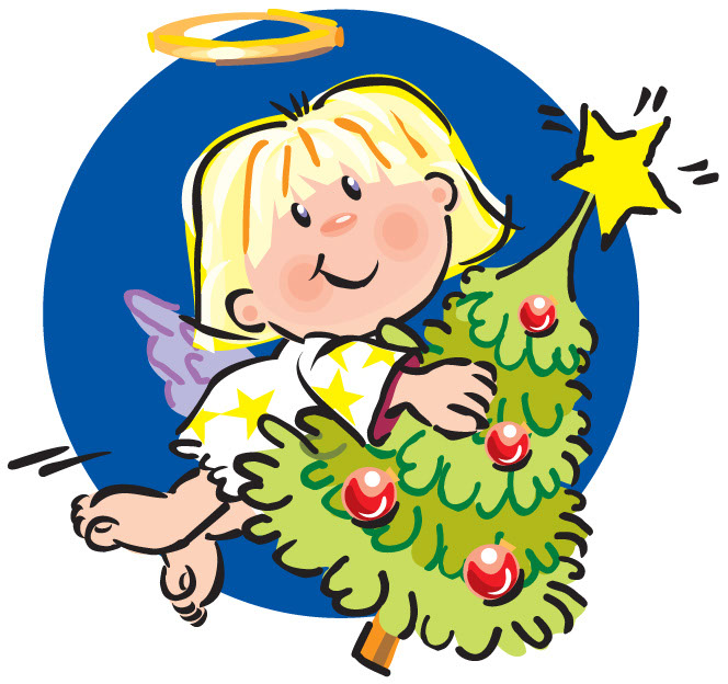 Christmas Tree Clipart Angel.