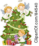 Angel Tree Clip Art.
