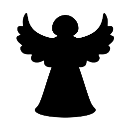 Christmas Tree Angel Silhouette.
