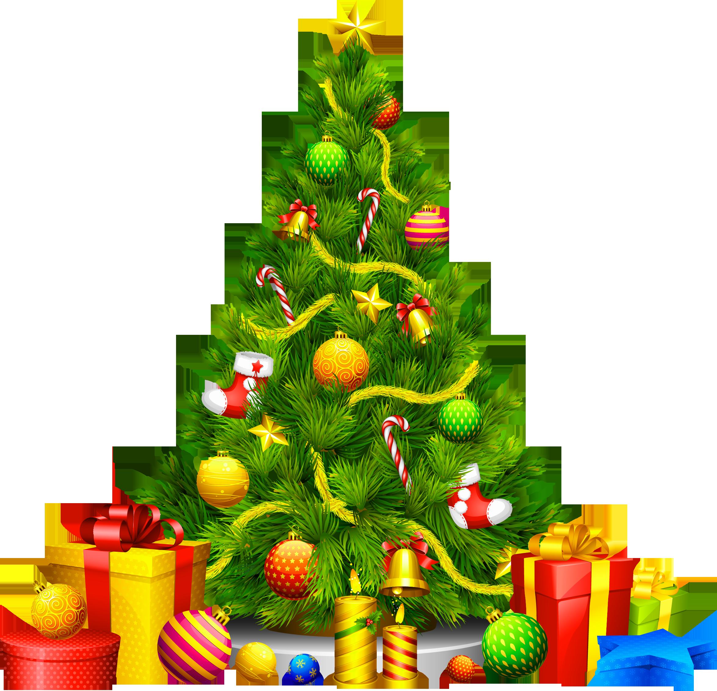 Christmas tree Christmas ornament Clip art.