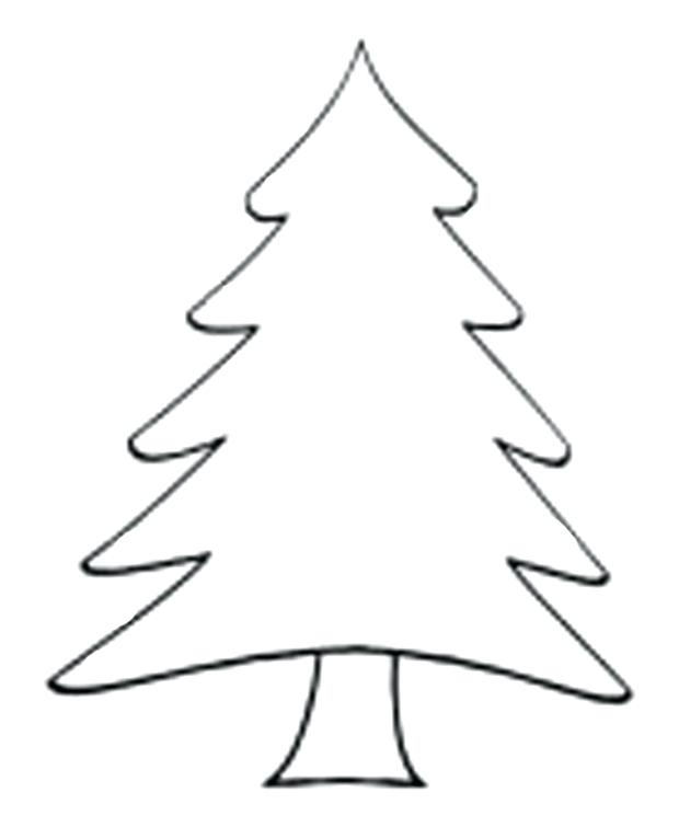 Simple Christmas Tree Clipart Black And White.
