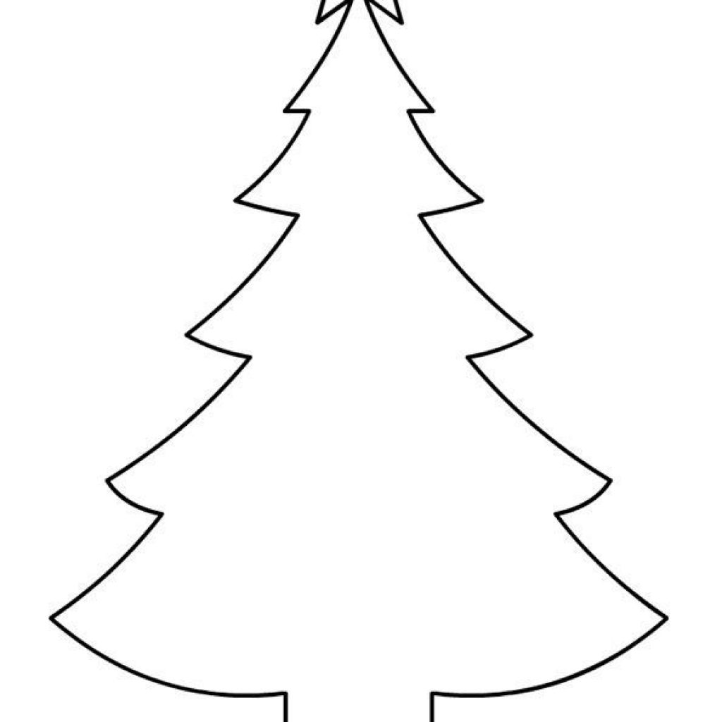 Christmas Tree Drawing Outline.