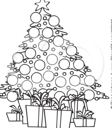 Black And White Christmas Tree Drawing at GetDrawings.com.