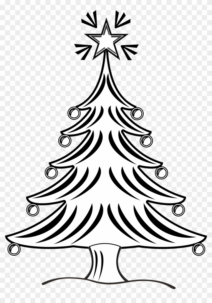 Christmas Tree Drawings Images Free Line Drawing Download.