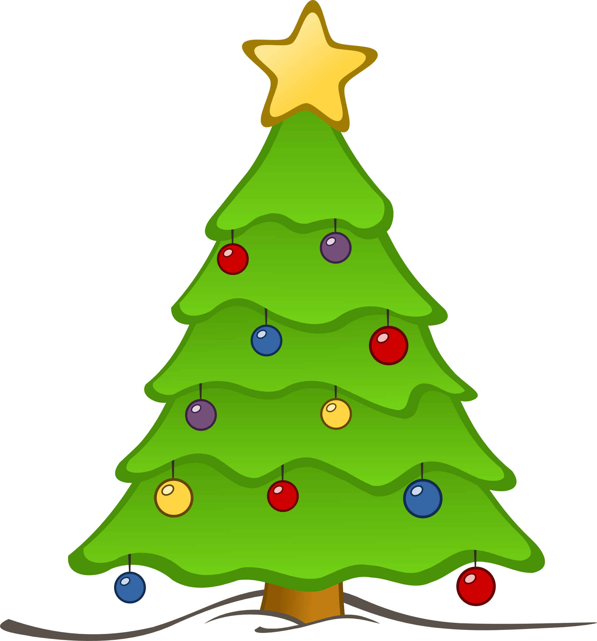 Christmas tree clipart no background 1 » Clipart Portal.