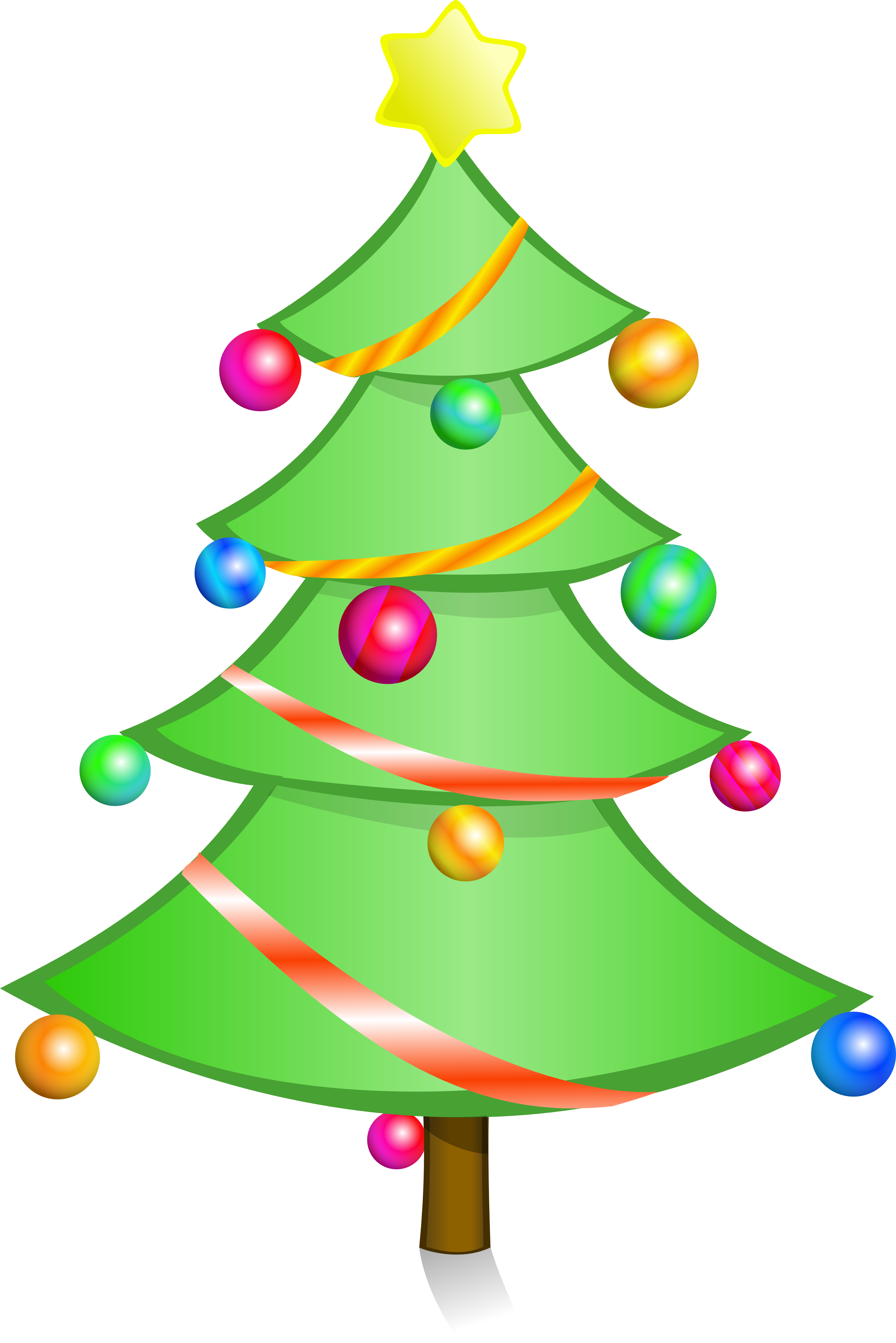 Christmas tree clipart png 5 » Clipart Station.