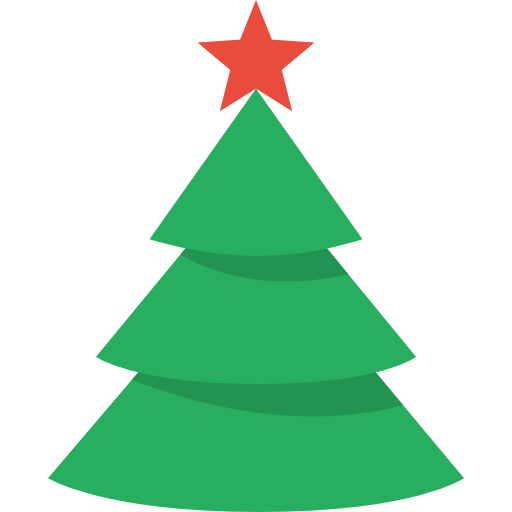 Simple Christmas Tree Icon, PNG ClipArt Image.