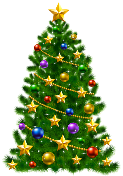 Christmas tree clipart transparent 3 » Clipart Station.