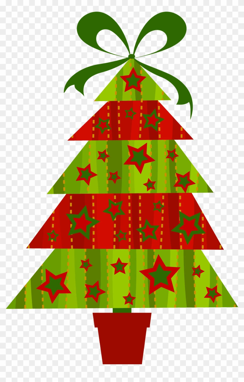 Modern Christmas Tree Transparent Png Clipart.