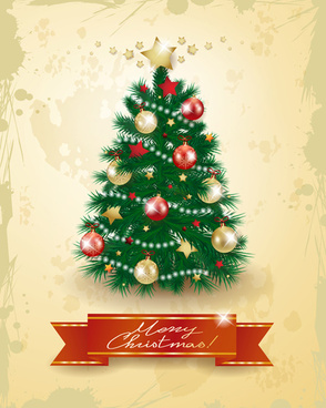 Christmas tree clipart transparent background free vector download.