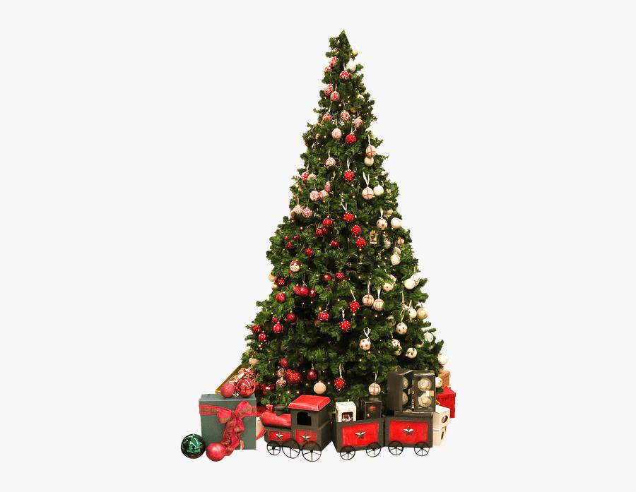 Christmas Tree Vintage Train Clip Arts.
