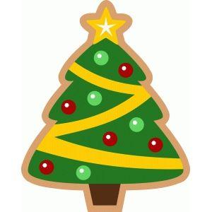 Christmas tree cookie.