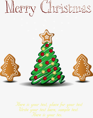 Simple Style Christmas Tree Cookies, Tree Clipart, Biscuit.