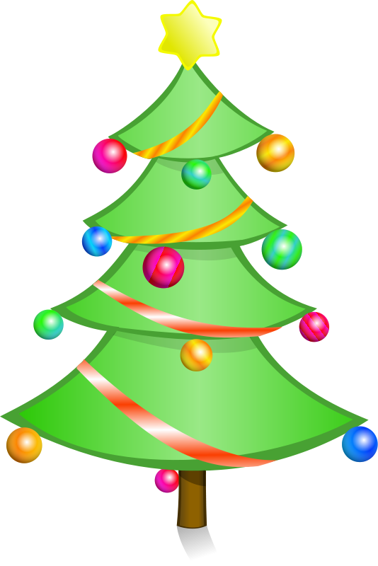 clipart of christmas tree falling over #3