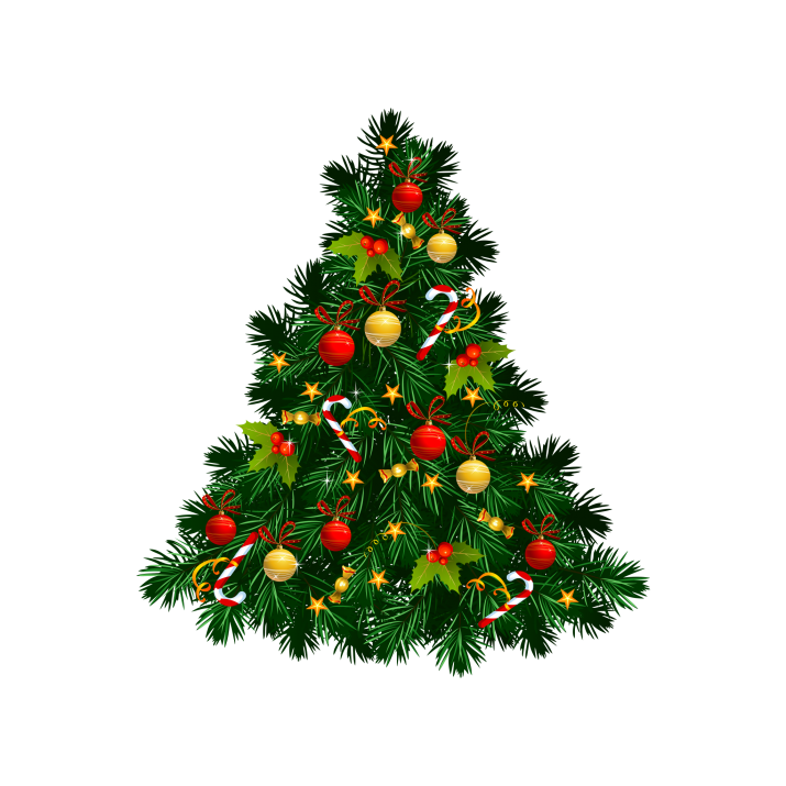 Beautiful Christmas Tree Decorations PNG Image Free Download.