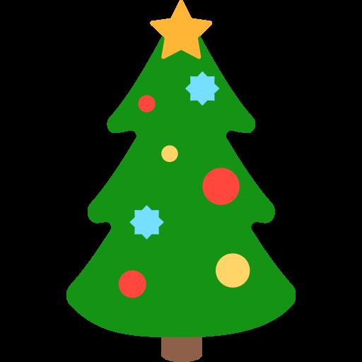 Christmas Tree Emoji for Facebook.