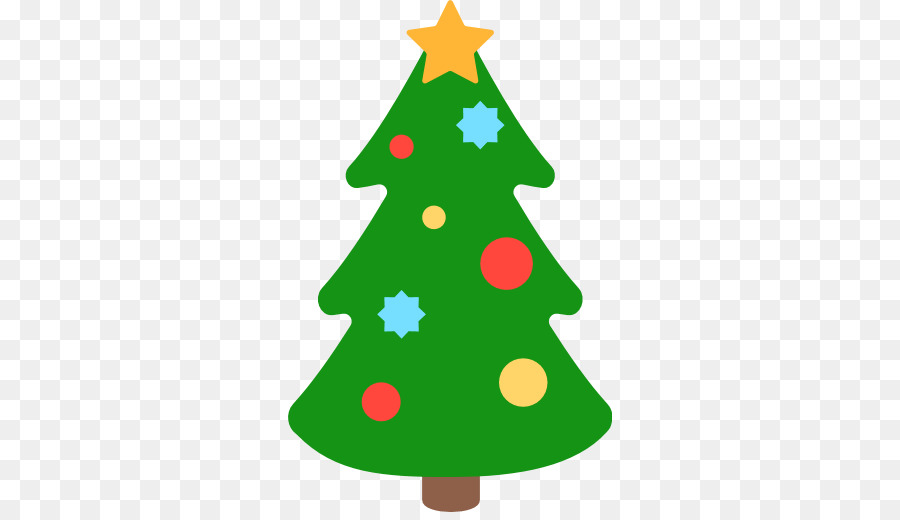 Christmas Tree Emoji clipart.