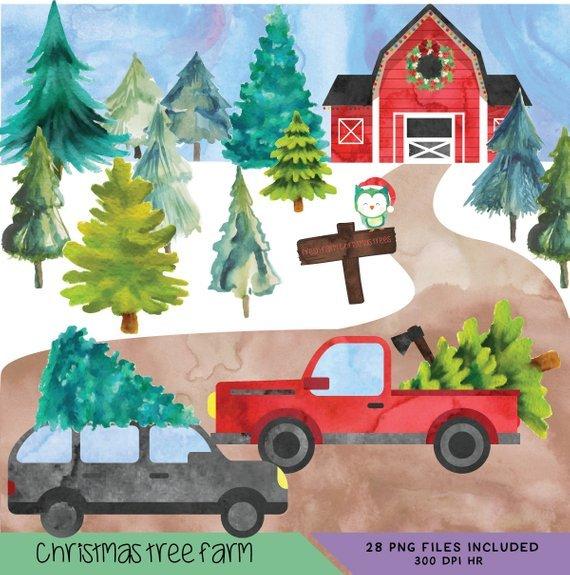 Christmas tree farm clipart 6 » Clipart Portal.