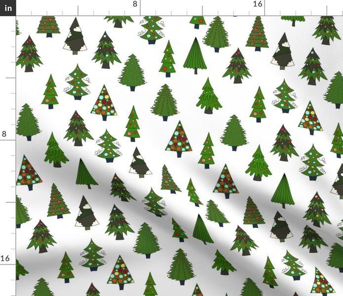 Fabric by the Yard Christmas Tree Farm.