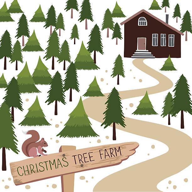 Christmas Tree Farm Illustrations, Royalty.