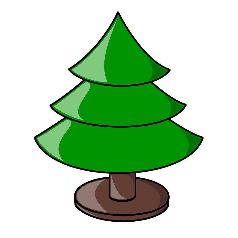 Free Clipart: Christmas Tree (plain).