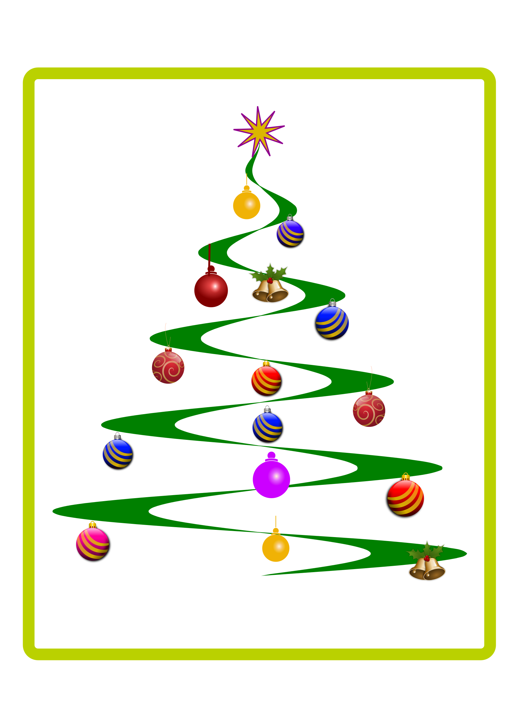 Helix Christmas Tree Vector Clipart image.