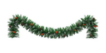 477 Christmas Garland free clipart.
