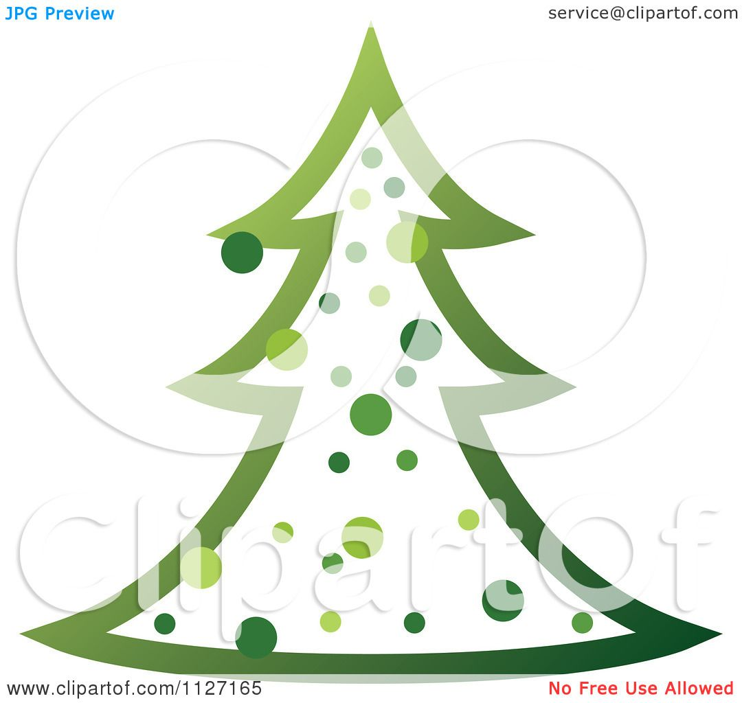 Clipart Of A Green Christmas Tree.
