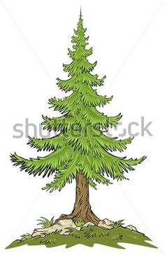 Potted Christmas tree in snow Royalty Free Vector Clip Art.