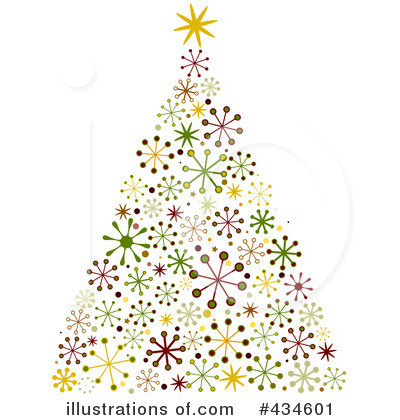 Christmas Tree Illustrations Clipart.