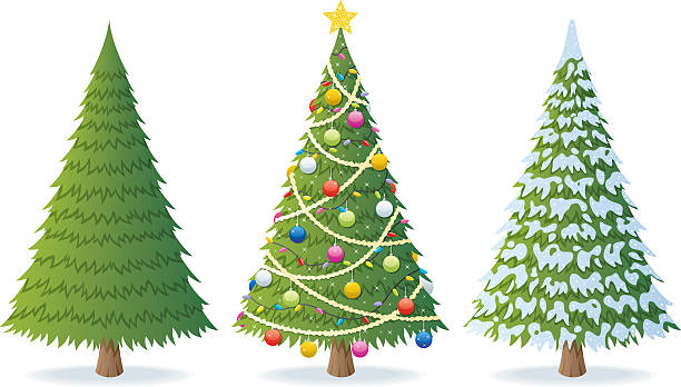 Christmas Tree Clip Art, Vector Images & Illustrations.