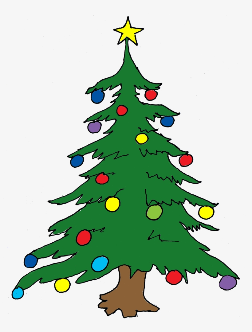 Pastel Clipart Christmas Tree.