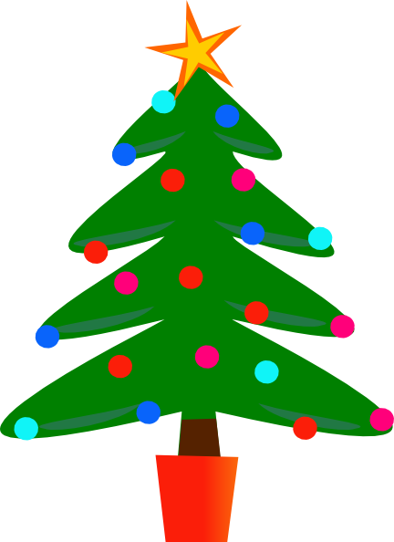 Christmas Tree Clipart Vector Png.