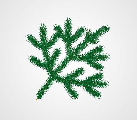 Christmas Tree Leaves Clipart (73+).