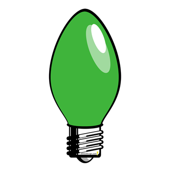 Christmas Light Bulb Clipart.