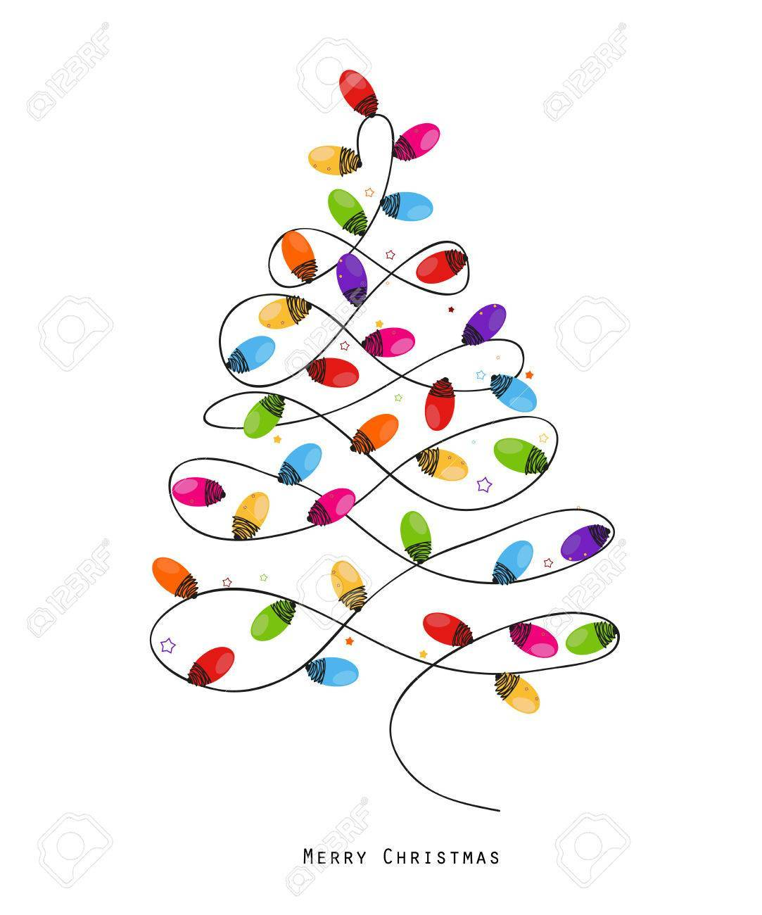 Christmas tree light clipart 4 » Clipart Portal.