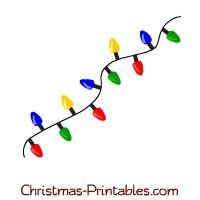 Christmas Tree Lights Clipart.