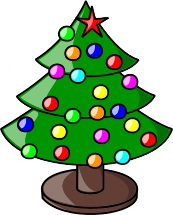 Christmas tree lighting clipart.