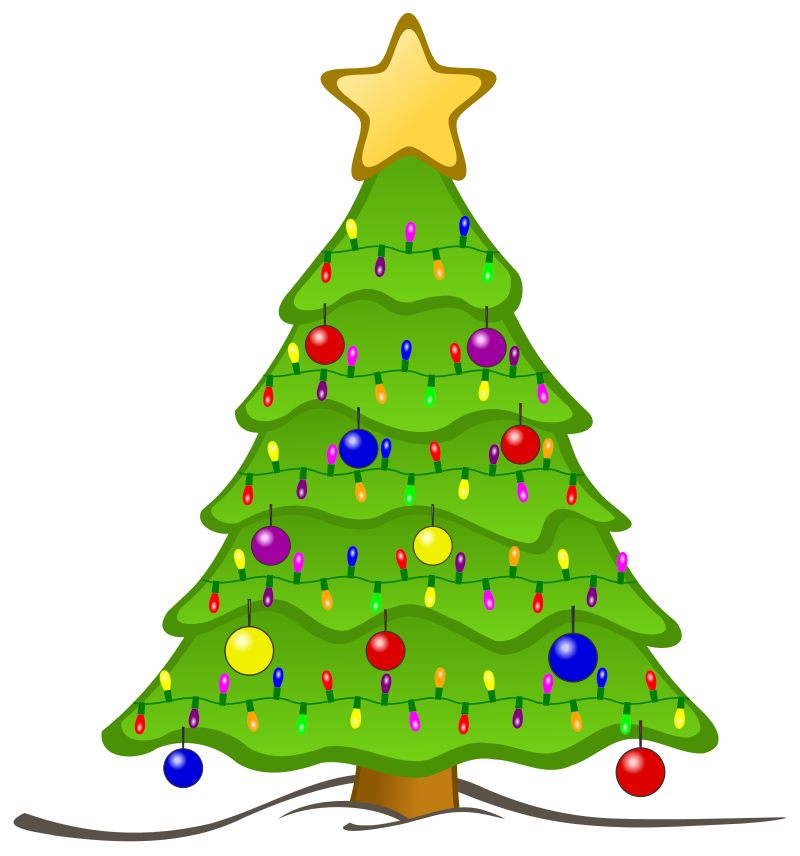 Cute Christmas Tree Light Clipart.