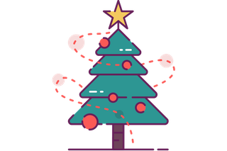 Decorated Christmas Tree Clip Art (Free).