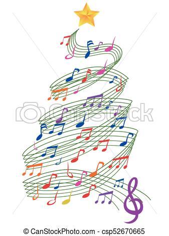 colorful Music Christmas Tree.