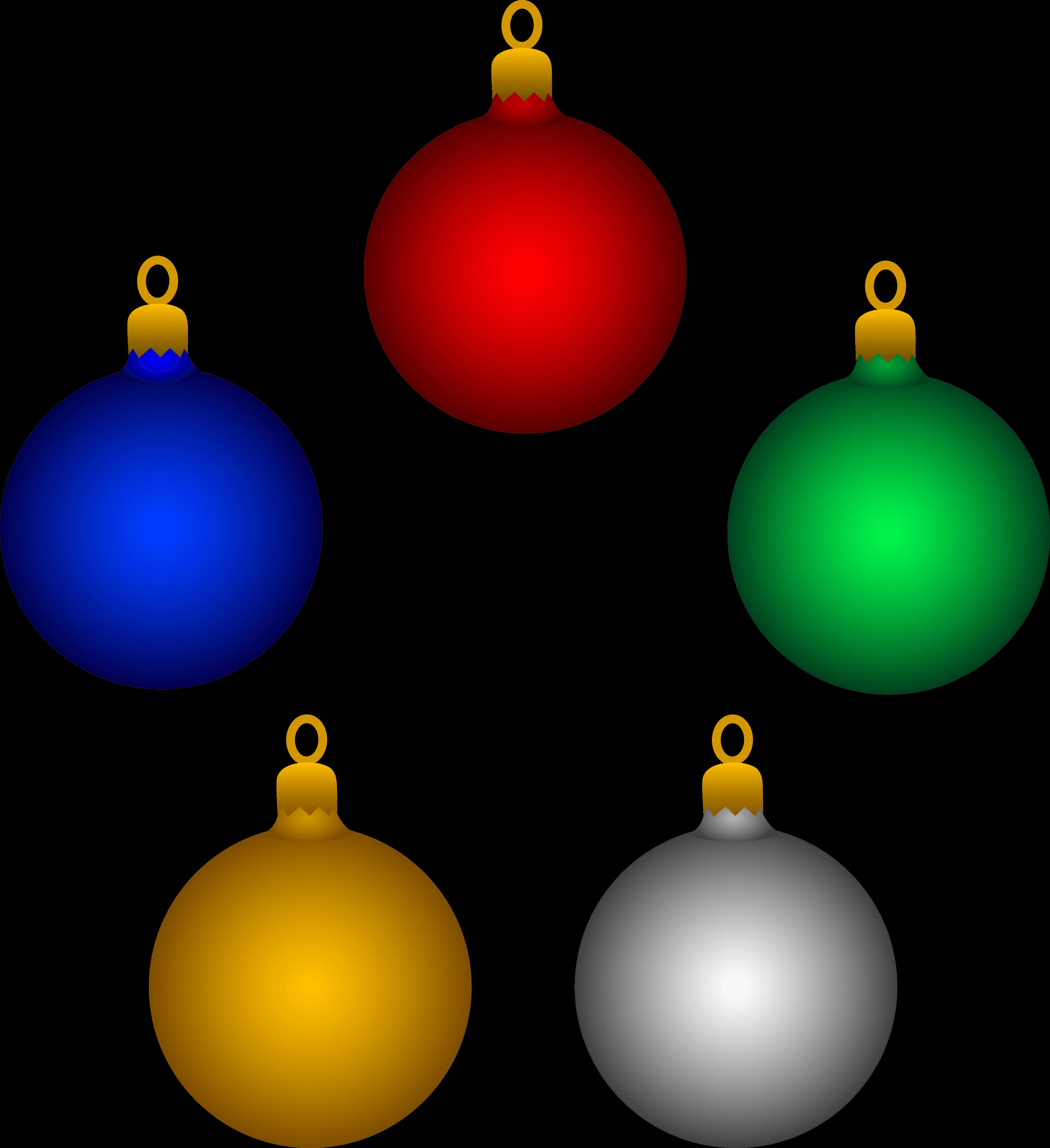 Tree Ornaments Cliparts.