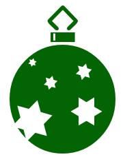 Religious christmas tree ornament clipart.