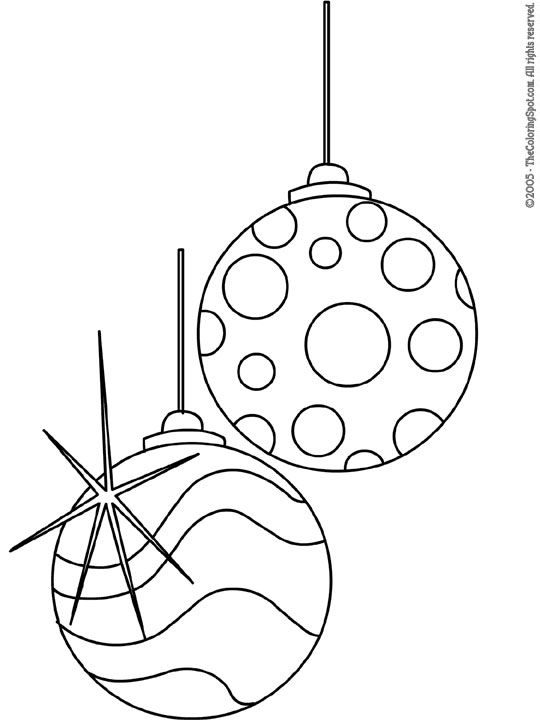 coloring pages christmas baubles clip - photo#39