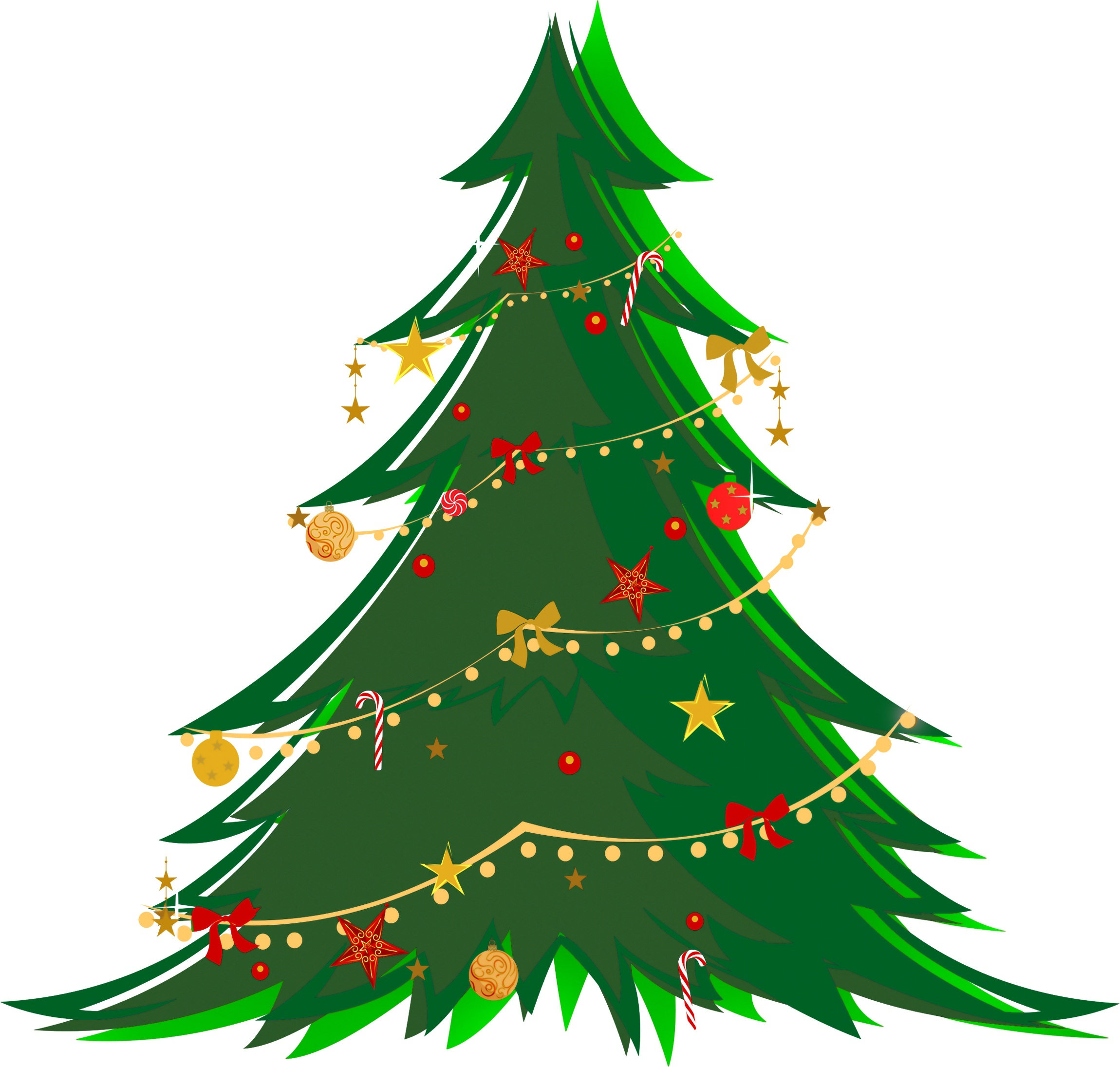 Christmas Tree Ornaments Craft Clipart.