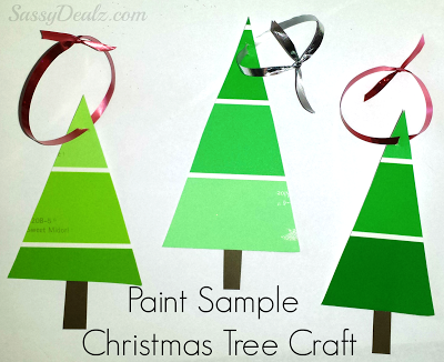 Cheap Paint Sample Christmas Tree Ornament Craft For Kids.