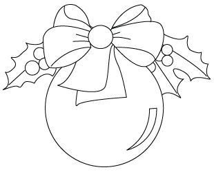 Christmas Ornament Coloring Pages.