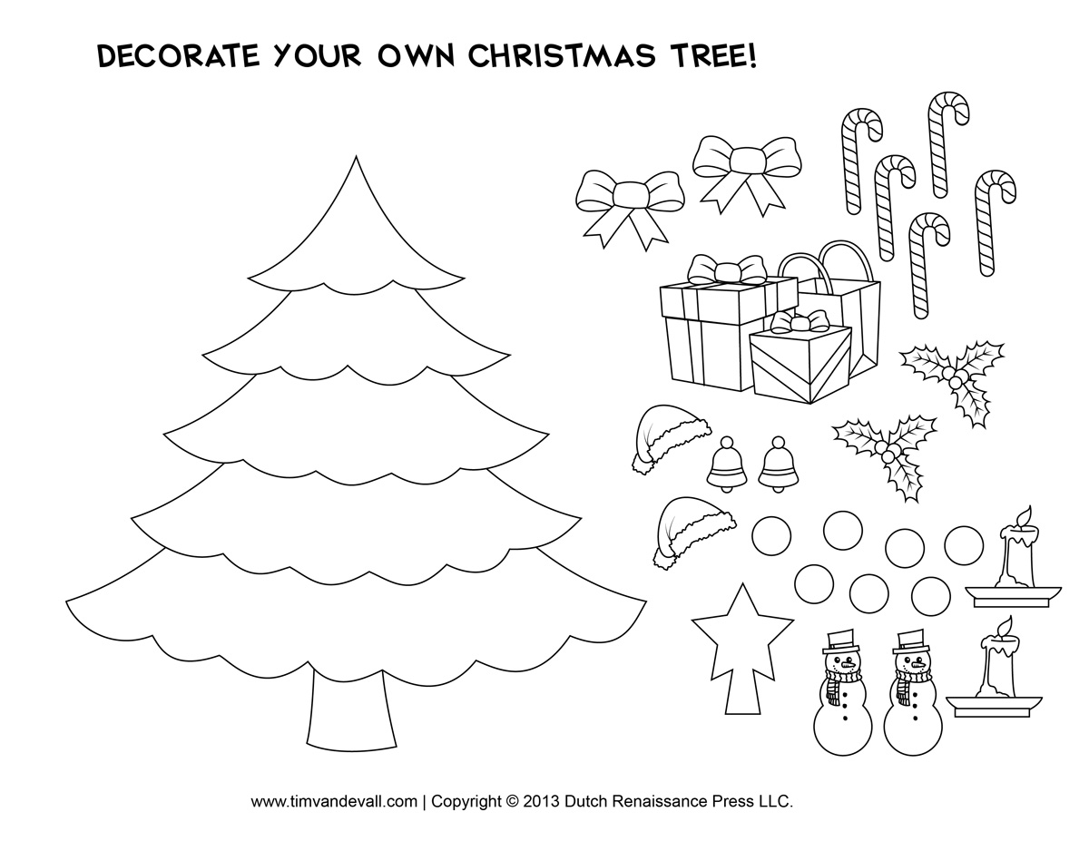 Printable Paper Christmas Tree Template and Clip Art.